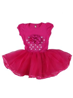 Product Image Wenchoice Hot Pink Minnie Bow Dress Girls L(5-6Y) 3584f0f07
