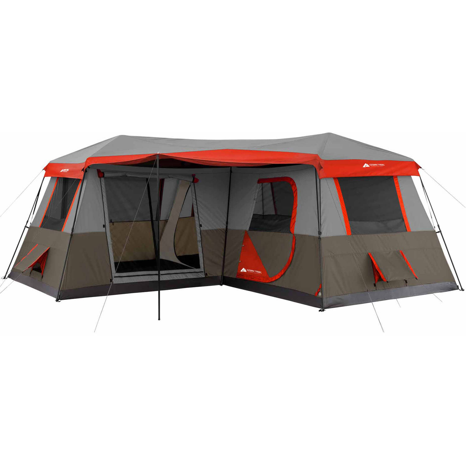 Ozark Trail 16x16 Instant Cabin Tent Sleeps 12  sc 1 st  Walmart : lake and trail tents - memphite.com