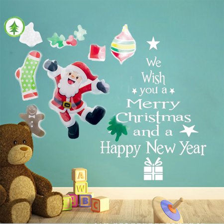 stickers, Christmas Decoration Santa Claus Christmas Tree - Christmas Santa Stickers