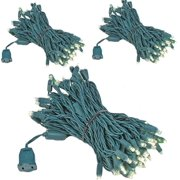 Kicko Christmas Light - 100 Count Warm White LED Light on Green Wire for Christmas Tree, Indoor and Outdoor Party or Holiday Decors - UL Listed and Energy Saving