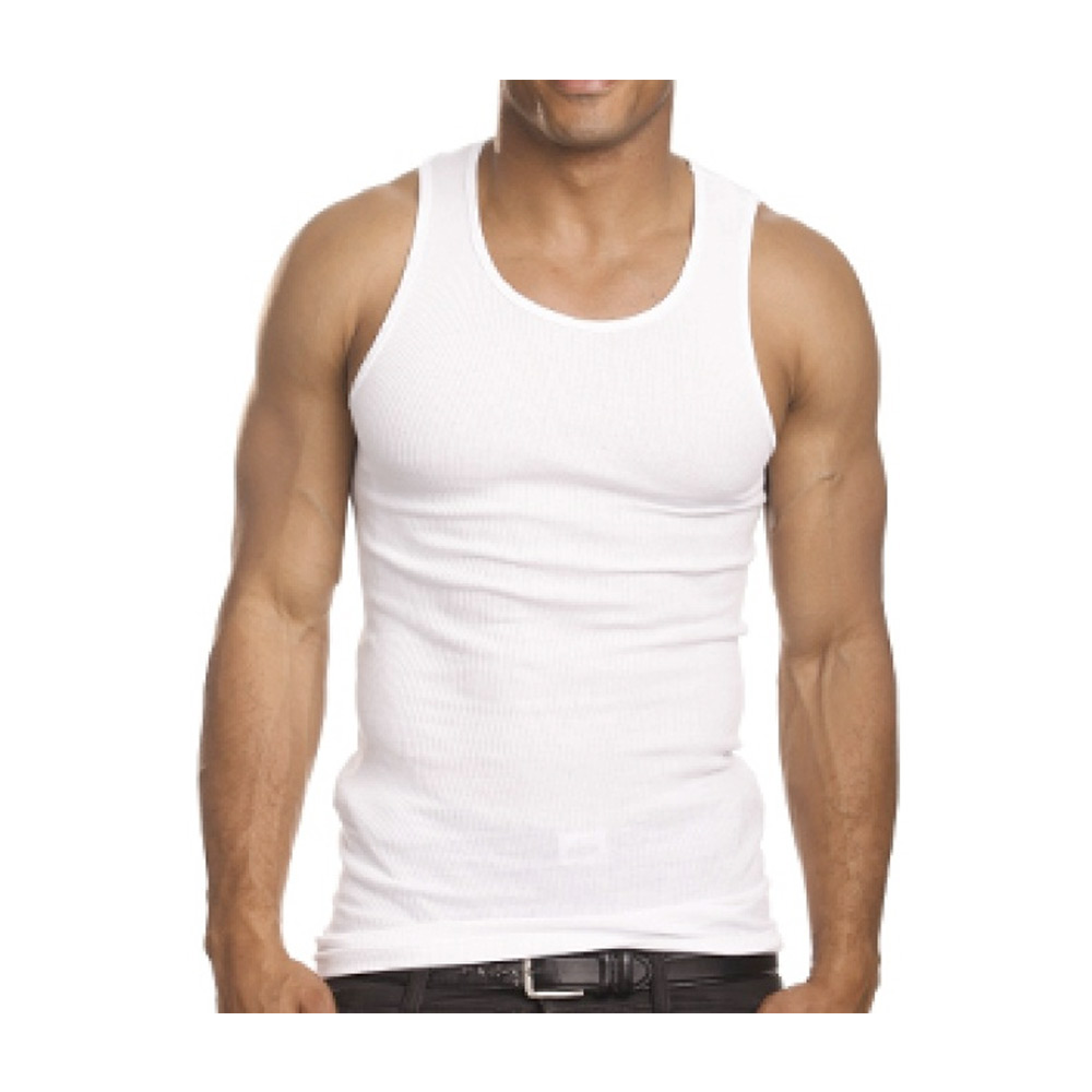 baa02631bda7cd FMRSLHRVIB - 3 Mens Slim Muscle Tank Top T-Shirt Ribbed Sleeveless Gym  Fashion A-Shirt White - Walmart.com