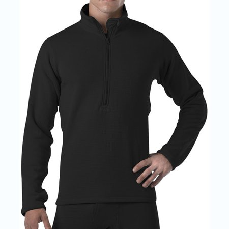 Underwear Zip Collar Shirt - Black - ECWCS Generation III Underwear Zip-Collar Shirt