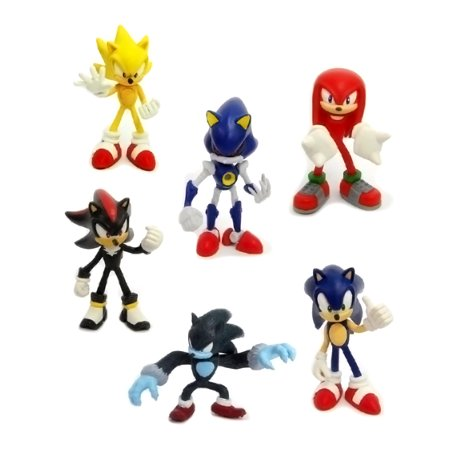 6 Pcs Sonic The Hedgehog Game Action Figures Doll Kids Toys