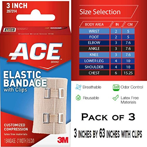 ACE(TM) Elastic Bandage w/clips [PRICE is per EACH] (Pack of 3)