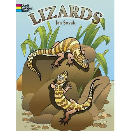 Lizards Coloring Book - Bead Lizard