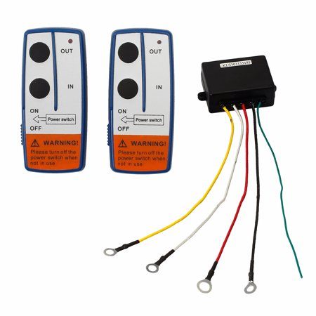 ESYNIC 12V Recovery Wireless Winch Remote Control Switch Kit 2 Handset Switch Heavy Duty for JEEP ATV SUV