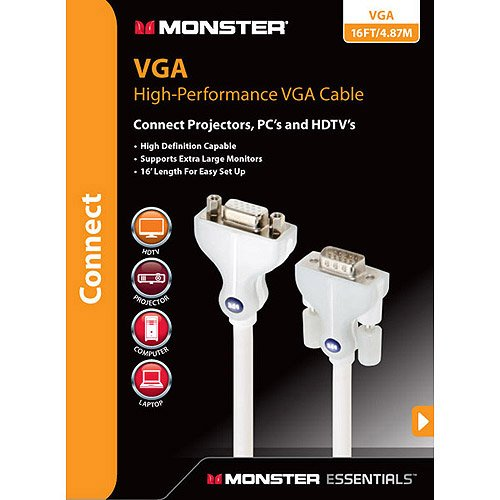 Monster 122413 Monster[r] Essentials High Speed, High Performance Vga Monitor Cables