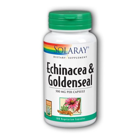 Echinacea Goldenseal Capsules - Solaray Echinacea and Goldenseal 100 Capsules