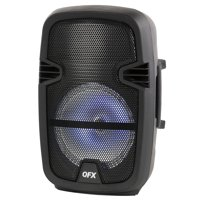 QFX 8-in Portable Party Bluetooth Loudspeaker with Microphone & Remote