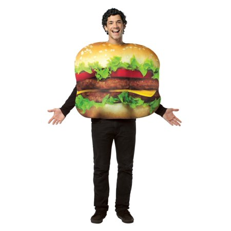 Rasta Imposta Mens Cheeseburger Costume Adult One Size](Cheese Burger Costume)