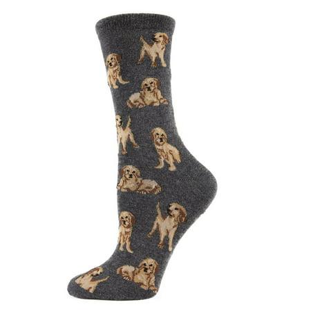MeMoi Golden retriever socks from MeMoi One Size / Charcoal Gray MWN00130
