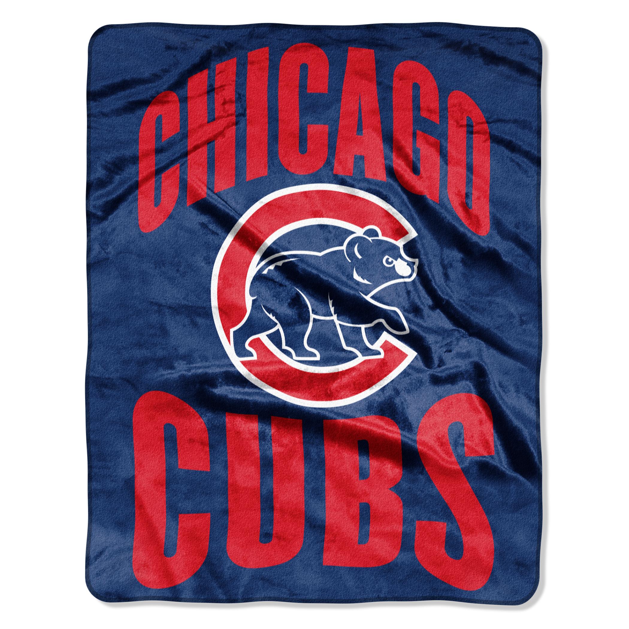 "Cubs ""Apple"" - Silk Touch Throw Blanket, 55"" x 70"""