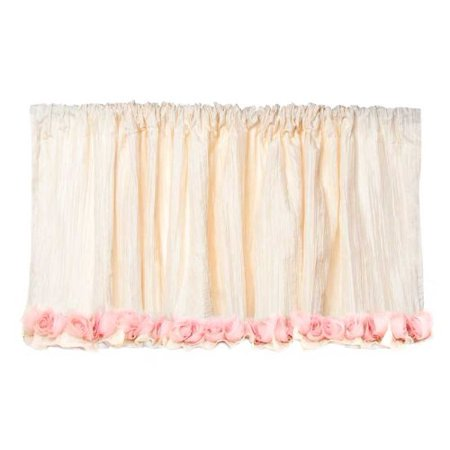 Glenna Jean Victoria Valance, Ivory Crinkle with Roses, 96