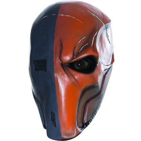Adult's Mens DC Comics Batman Arkham City Death Stroke Mask Costume - Arkham Batman Costume