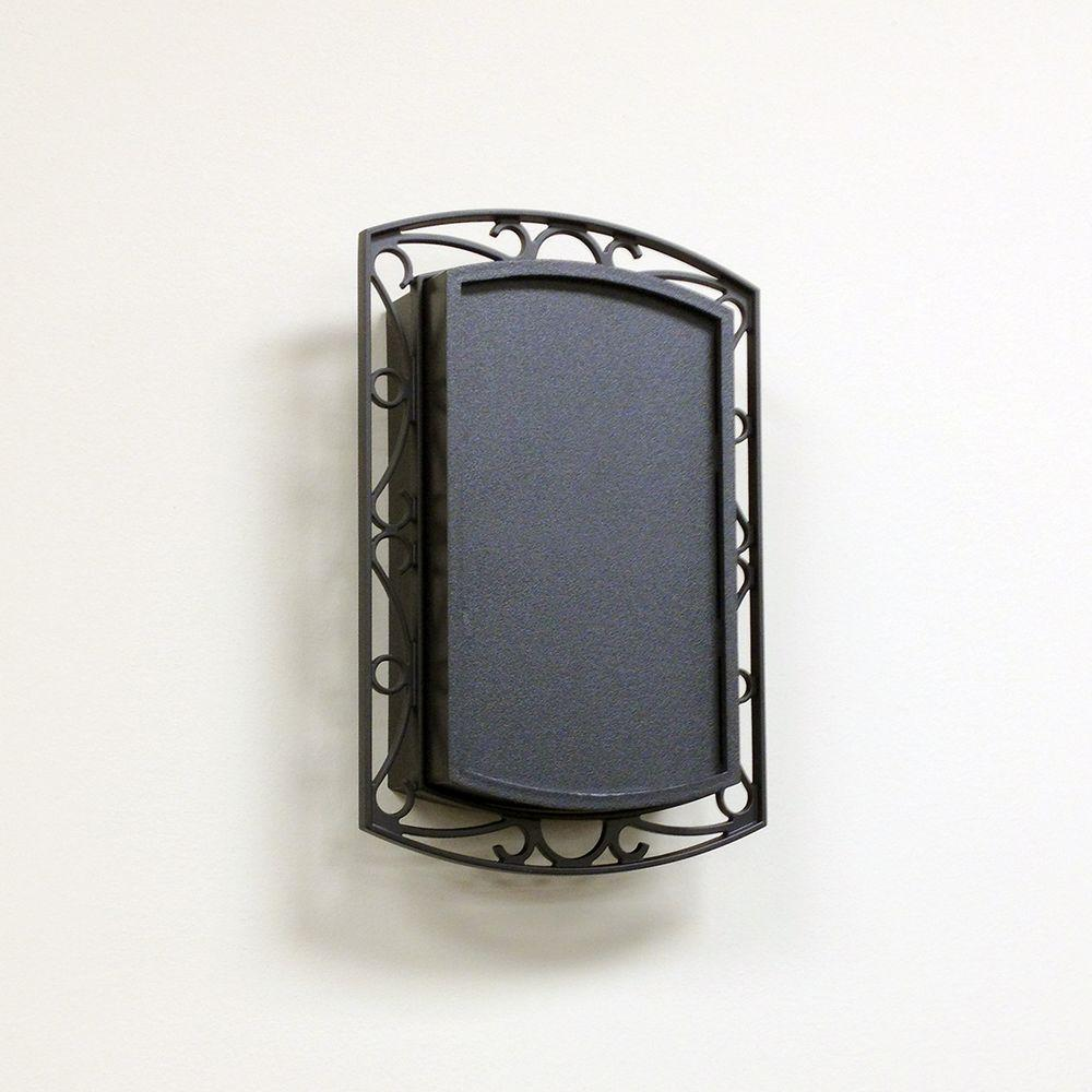 Wireless or Wired Door Bell, Black with Scroll Metal Acce...