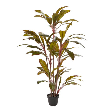 Pure Garden Artificial Cordyline – Tall Natural-Look Faux Indoor Floor Plant – Large and Lifelike 59