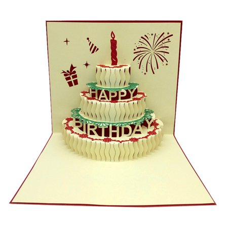 iLH Mallroom Exquisite 3D Pop Up Greeting Cards Festival Cards Gifts Handmade Artwork for Valentine's Day Lovers Anniversary Birthday