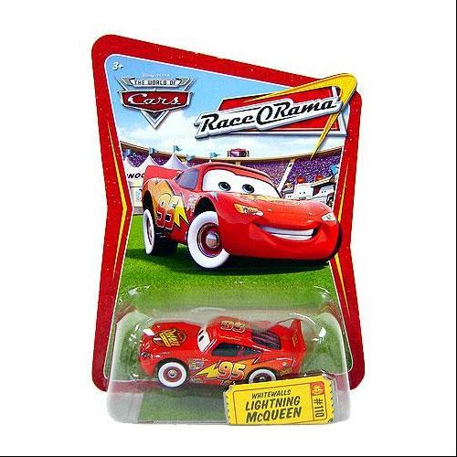 Disney Cars Race-O-Rama Whitewalls Lightning McQueen Diecast Car
