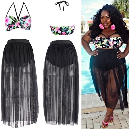 416314768c bocgsfdfgns - Fashion Plus Size Women Sexy High Waist Bandage Dress Cover  Up Bikini Set Push-up Padded Beach Swimwear Swimsuit Floral L - Walmart.com