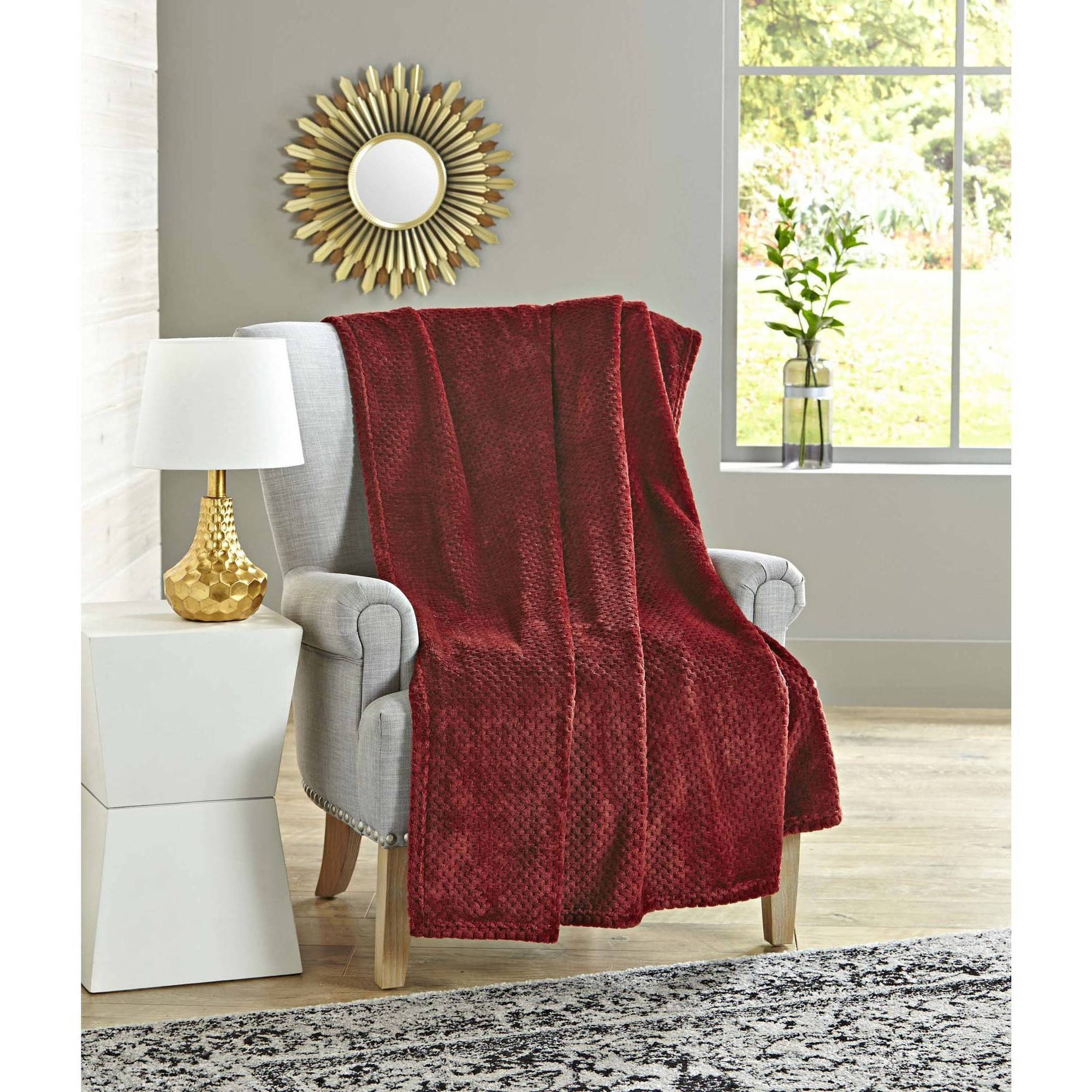 Better Homes and Gardens Oversized Velvet Plush Throw