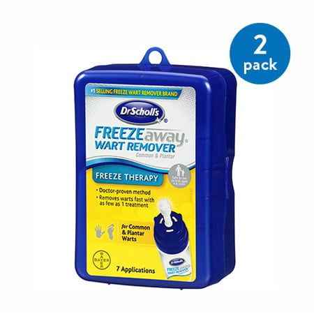 (2 Pack) Dr. Scholl's Freeze Away Wart Remover, 7 Treatments,
