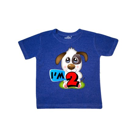 Puppy 2nd Birthday Toddler T-Shirt - Puffy Skirts For Kids