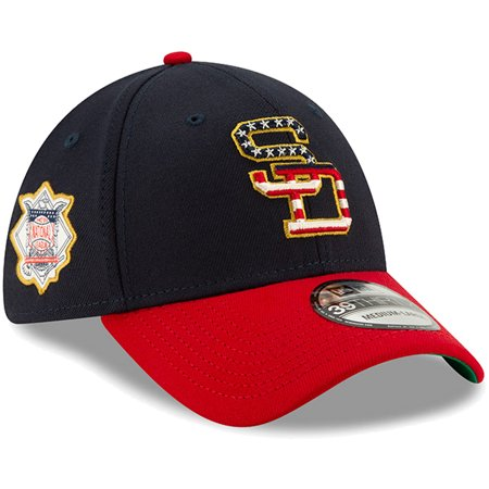 San Diego Padres New Era 2019 Stars & Stripes 4th of July 39THIRTY Flex Hat - Navy/Red