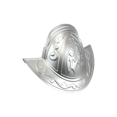 Deluxe Conquistador Knight Helmet Hat Costume Accessory, Silver, One Size - Conquistador Costume