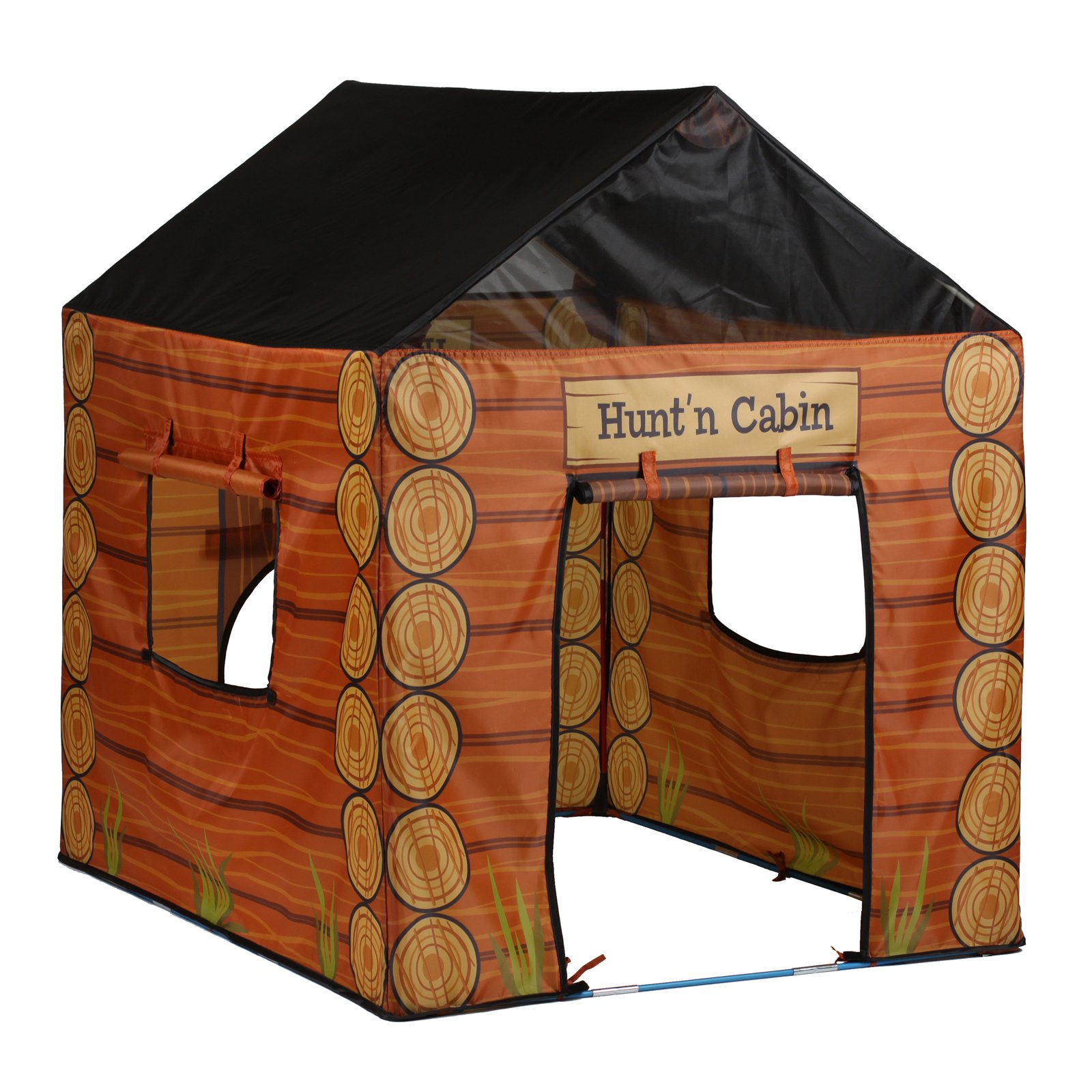Hunting Cabin House Tent, Brown by Pacific Play Tents