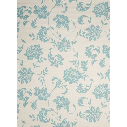 Alcott Hill Sigel Blue/Ivory Indoor/Outdoor Area Rug