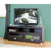 Swindon Modern Dark Brown TV Stand with Glass Doors for TVs up to 60""