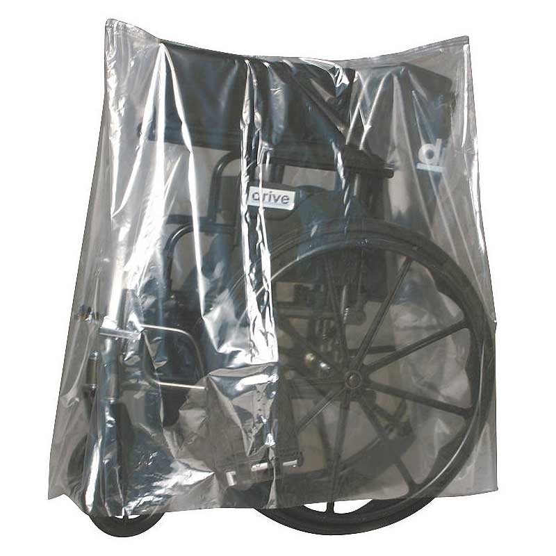 Wheelchair/walker/commode equipment covers, clear,150 per roll part no. bor282235 (1/ea)