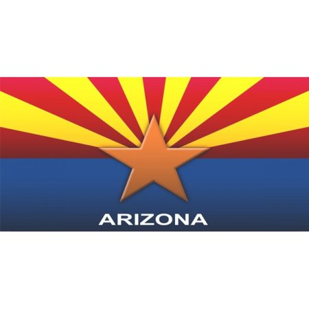 Arizona State Flag Arizona Photo License Plate Free Personalization on this  Plate