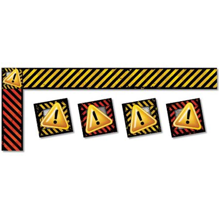 Caution Safety Bulletin Board Border  4238   Trimmers Measure 3 X 39  7 6 X 99 Cm  And Corners Measure 3 X 3  7 6 X 7 6 Cm  For A Total Of 43  13 1 M  Per    By North Star Teacher Resources