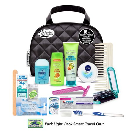 Convenience Kits International, Women's Assembled Premium Travel Kit with 16 PC's Featuring: Nivea Creme and Fructis Hair Products ()