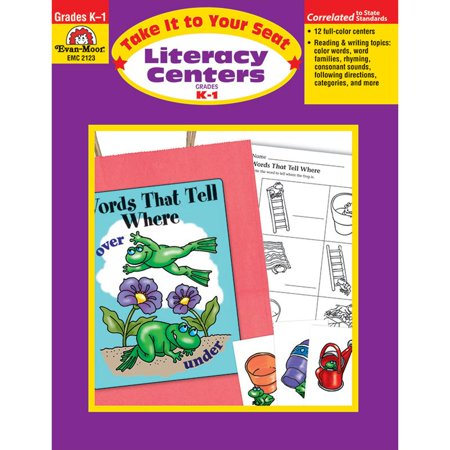 Instant Literacy Center (Evan-Moor Take It to Your Seat Literacy Centers Book, Grades K-1)