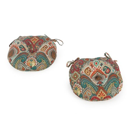 Coral Coast Global 15 x 15 in. Round Outdoor Bistro Chair Cushions - Set of 2 ()