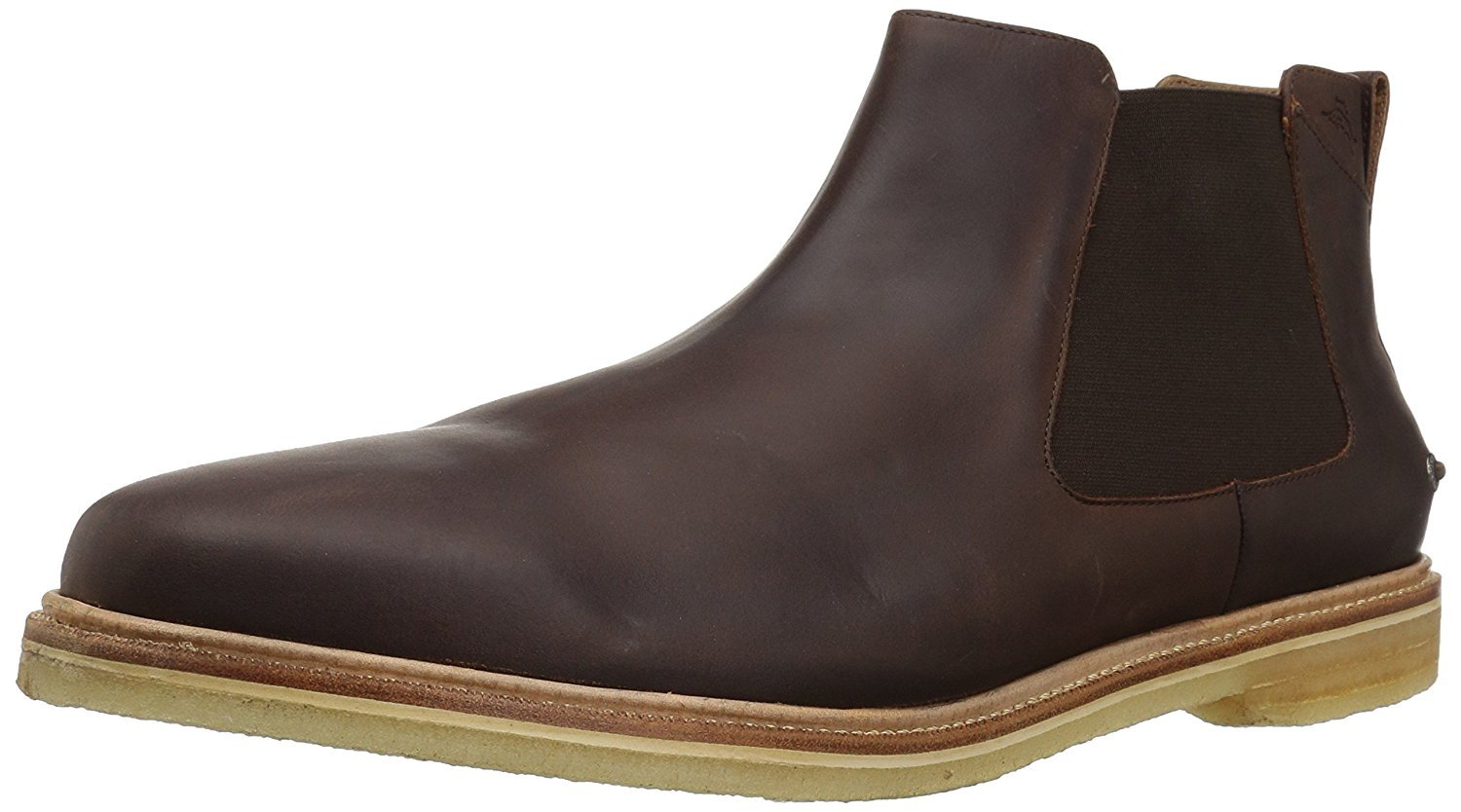 Tommy Bahama Mens Legzira Beach Leather Chelsea Boot (Brown, 12) by