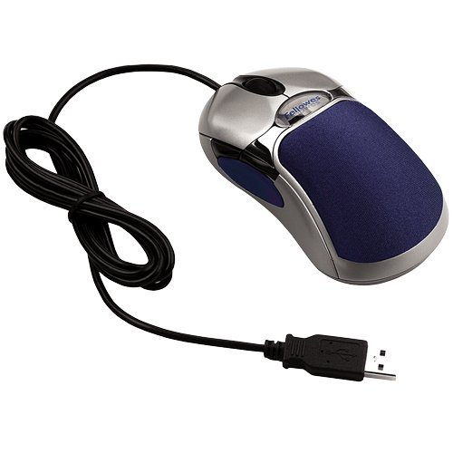 Fellowes HD Precision Optical Gel Mouse, Silver/Blue (98905)