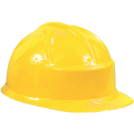 Yellow Plastic Construction Helmet Adult Halloween Accessory (Hard Rock Halloween)