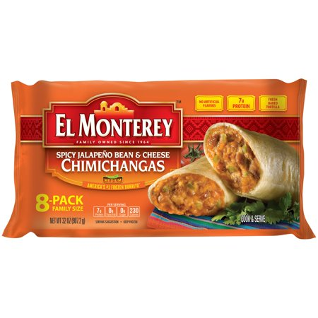 El Monterey 174 Spicy Jalape 241 O Bean Amp Cheese Chimichangas