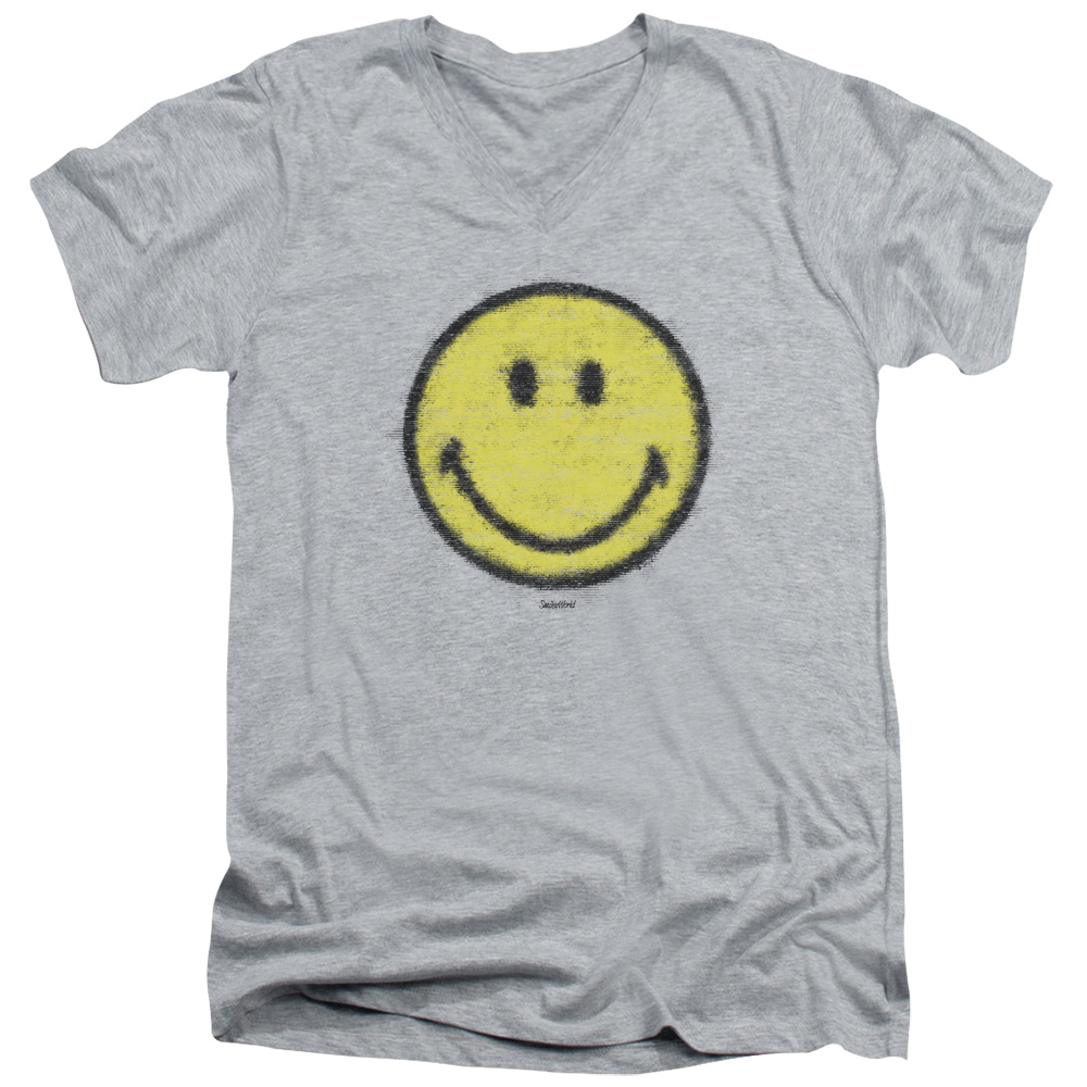 Smiley World Paper Jam Mens V-Neck Shirt