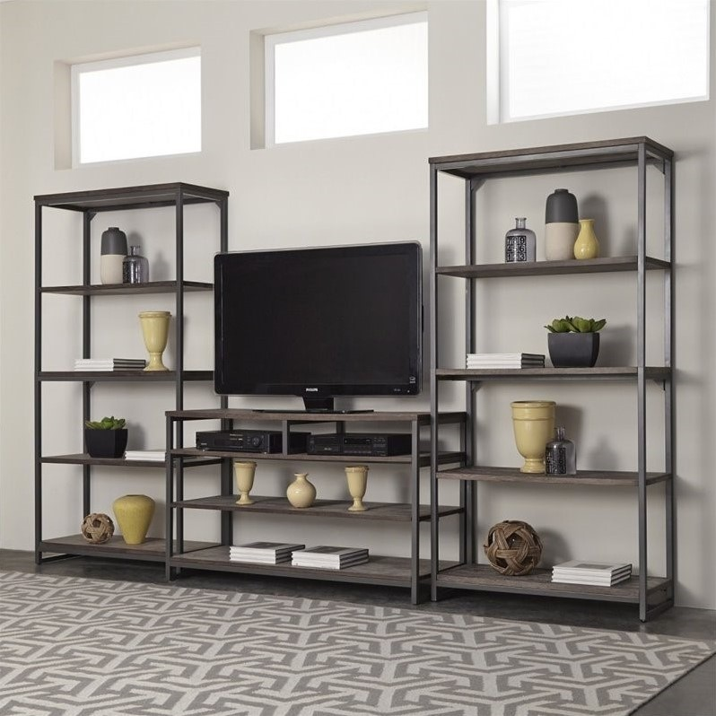 Home Styles Barnside Metro 3PC Entertainment Center by Home Styles
