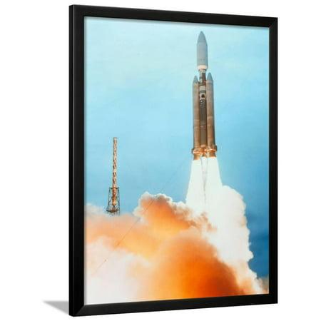 Titan Rocket - Launch of a Titan IV Rocket Framed Print Wall Art By Lockheed Martin