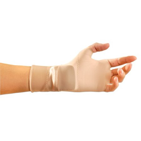 Support Gloves PLUS Wrist Occumitt Medium Beige, Fingerless, Nylon/Spandex, Beige, Medium By Occunomix - Occumitts Support Glove