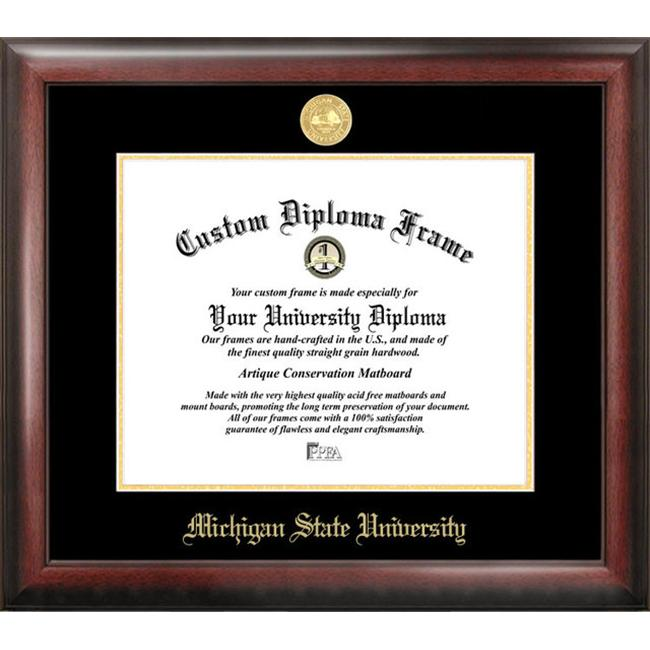 Michigan State Gold Embossed Diploma Frame