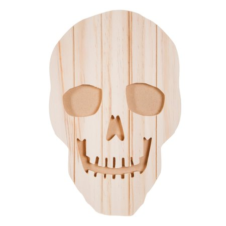 Carved Pallet Skeleton Face for DIY Halloween Decor: Unfinished Wood, 9 x 14 inches (Diy Halloween Teacher Gifts)