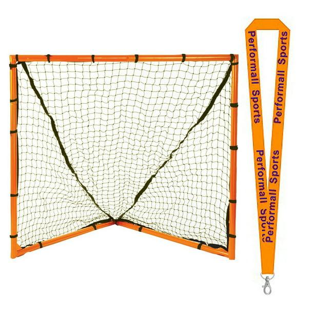 Champion Sports Bundle: Backyard Lacrosse Goal Black with ...