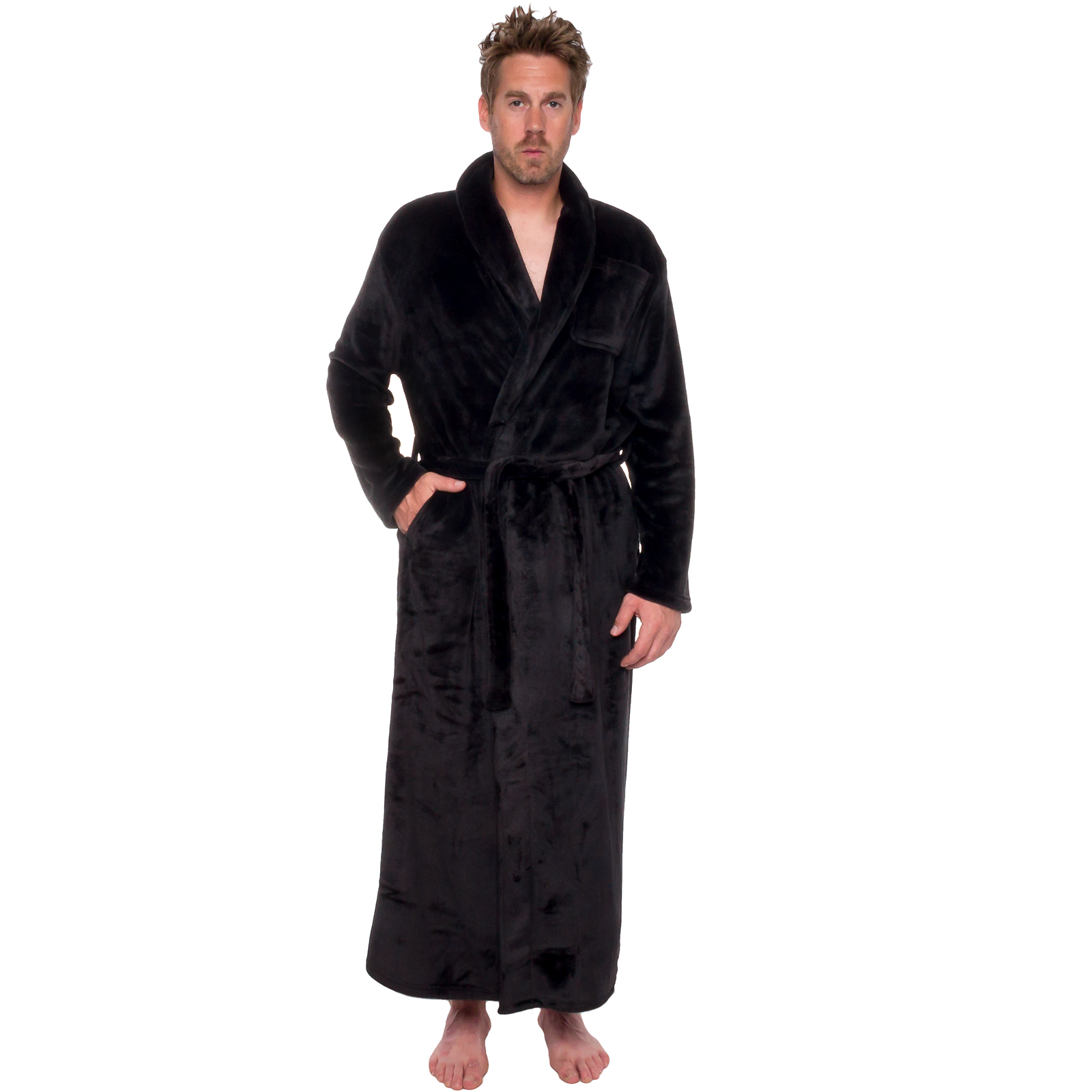 Ross Michaels Mens Full Floor Length Big and Tall Long Pl...