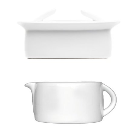 BergHOFF International Butter Dish and Gravy/Sauce Boat 2 Piece Set